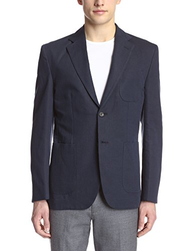 Hardy Amies Men's 2 Button Patch Pocket Waffle Sportcoat