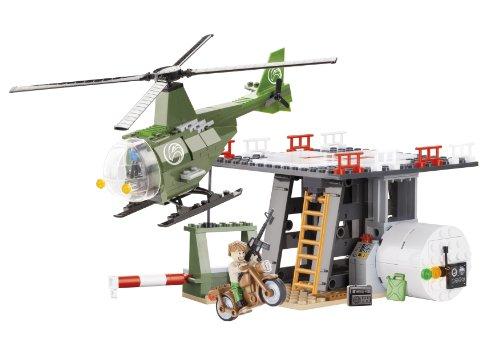 Elicottero Piccolo : Piccolo esercito elicottero base costruzione mattoni by cobi