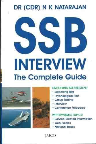 SSB Interview: The Complete Guide, by Dr. N. K. Natarajan