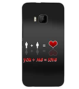 PRINTSWAG LOVER COUPLES Designer Back Cover Case for HTC ONE M9