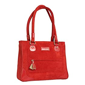 Olive n Figs Suede Tote/Handbag - Red