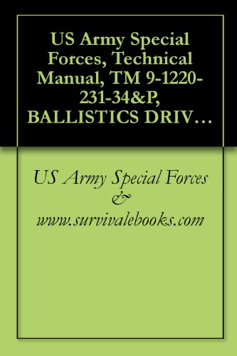 Us Army Special Forces, Technical Manual, Tm 9-1220-231-34&P, Ballistics Drive: M15, (1220-00-071-5330), 1983
