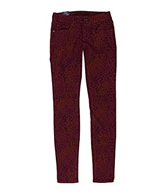 Bullhead Denim Co. Womens Leopard Print Skinny Fit Jeans