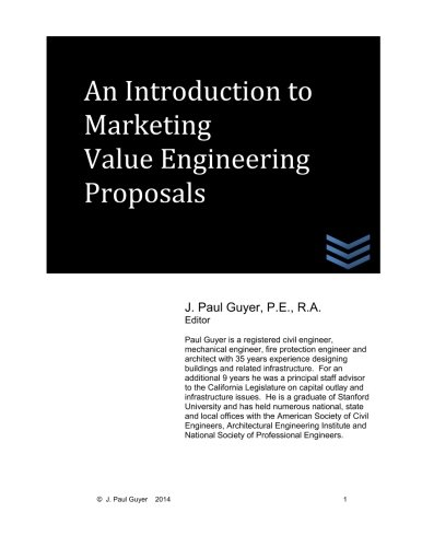An Introduction to Marketing Value Engineering Proposals