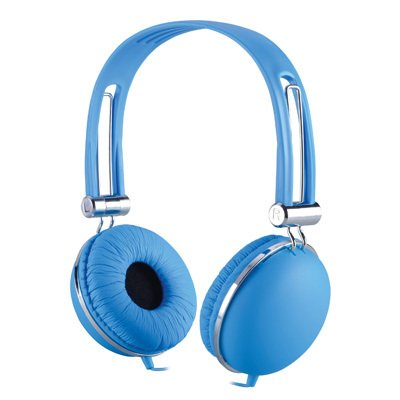 Golden Vocal Over Head Stereo Headset Earphones Headphones W/ Microphone For Amazon Kindle Fire Hdx 8.9 ( Blue ) + Stars Strips Wristband