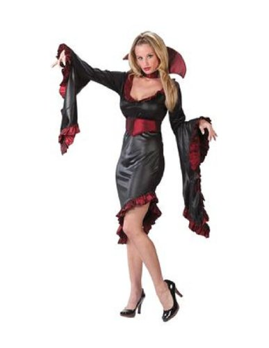 Adult Sexy Ruffle Vampiress Costume