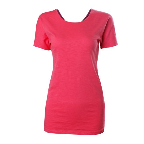 Tom'S Ware Women'S Basic Crisscross Cut Out Back Bodycon T-Shirts Twcwt01-Pink-L (Us M/L) front-88149