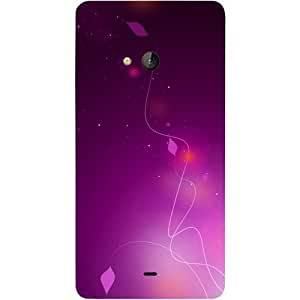 Casotec Purple Design Hard Back Case Cover for Microsoft Lumia 540