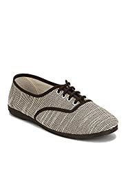 Scentra Womens Oreo Canvas Moccasins MLNMOSTPS(6UK/40EU)