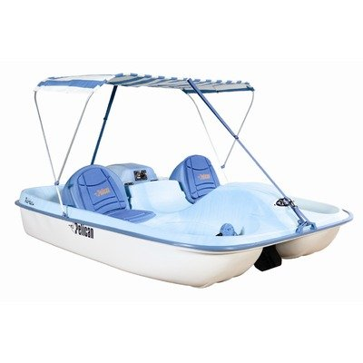 Image of Rainbow E DLX Fade Pedal Boat in Blue / White (B0094B2X38)