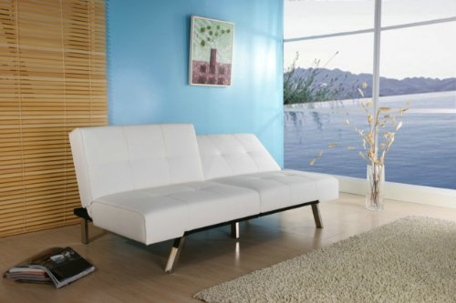 Enjoyable Gold Sparrow Jacksonville White Foldable Futon Sofa Bed Spiritservingveterans Wood Chair Design Ideas Spiritservingveteransorg