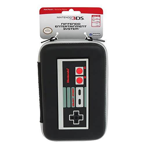 HORI Retro NES Controller Hard Pouch for Nintendo NEW 3DS XL protective hard artificial leather carrying pouch for nintendo 3ds white