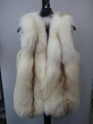 Amazon.co.jp: プラチナゴールドフォックス ファー ベスト ナチュラルカラー: 服&ファッション小物通販