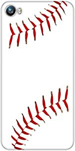 Snoogg Baseball Designer Protective Back Case Cover For Micromax Canvas Fire 4 A107