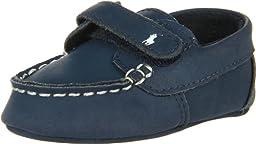 Ralph Lauren Layette Captain EZ Crib Shoe (Infant/toddler),Navy,3 M US Infant