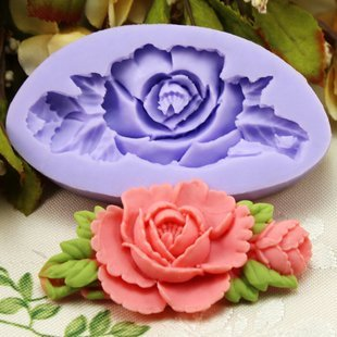 Dgi Mart Home Kitchen Use Frozen Food Candy Cookie Diy Making Mold Tray Silicone Candy Making Molds 6.6Cm Single Mini Flower Fondant Mold Silicone Sugar Mini Mold Craft Molds Diy Cake Decorating Mold Tray