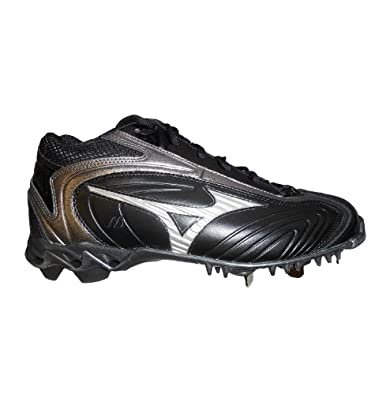 Buy Mizuno 9-Spike Lightning RP Mid Mens Baseball Cleats (Black Carbon) by Mizuno