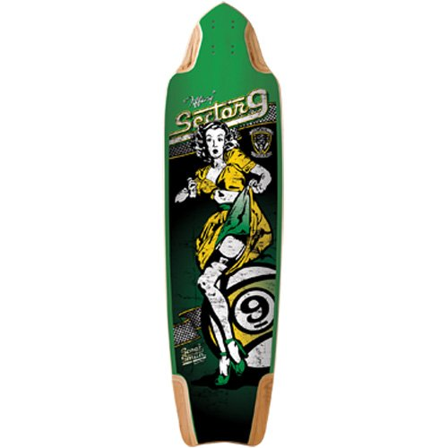 "Sector 9 Tiffany Skateboard Deck - Assorted / 37.2"" L X 10.0"" W X 28.5"", 29.0""/29.5""/30.0"" Wb"