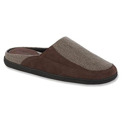 Tempur-Pedic Men's Leather/Canvas Mule