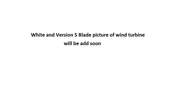 Ista Breeze I-700W 48V White - Version 5 Blade Wind Turbine, Windgenerator (Color: White, Tamaño: 48V - Version 5 Blade)