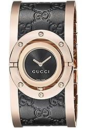 Gucci Women's YA112438 Twirl Analog Display Swiss Quartz Black Watch