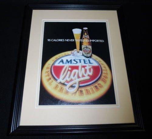 1984-amstel-light-framed-11x14-original-vintage-advertisement-c