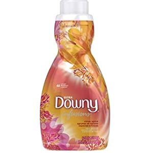 Downy Ultra Simple Pleasures Liquid Fabric Softener, Citrus Spice Glow, 52 Loads, 41 Ounce (Pack of 6)