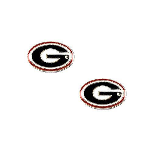 Georgia Bulldogs Post Stud Logo Earring Set NCAA Charm (Georgia Bulldog Pendant compare prices)