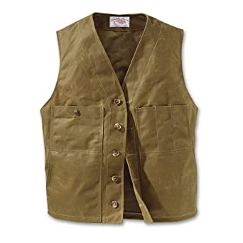 Filson 10265 Oil Tin Cloth Vest (38, Khaki)