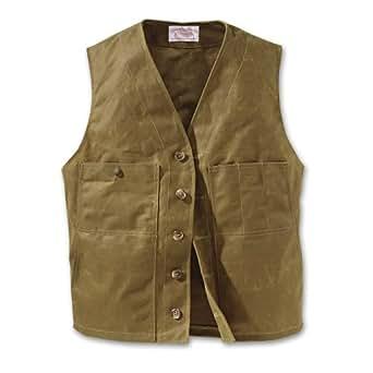 Filson Mens Oil Tin Cloth Vest Tan, 42) 10265
