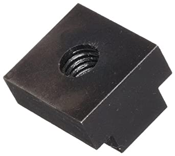 Steel T-Slot Nut, Black Oxide Finish, Grade 2, Right Hand Threads, Inch, Made in US