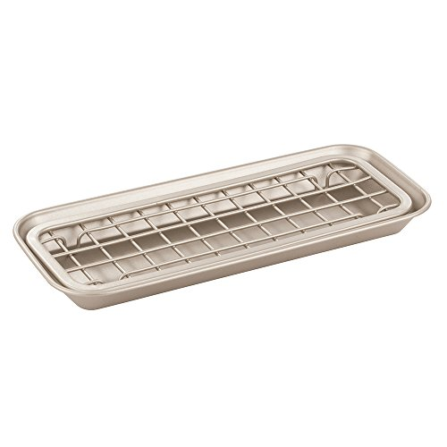 InterDesign Gia Kitchen Counter Sink Soap and Sponge Scouring Pad Tray Holder, Satin (Tray Holder compare prices)
