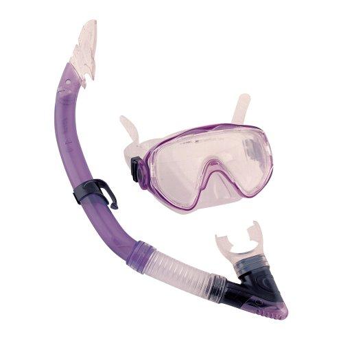 Lila Tauchset Tauch Schnorchel Set Taucherbrille Tauchermaske für Erwachsene