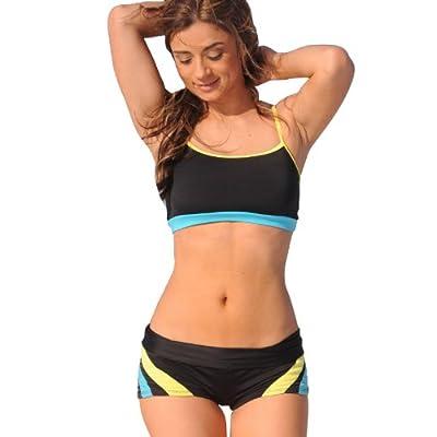 L253 Seventies Sport Bikini Top: LL \ Bottom: XS juniors swimwear at