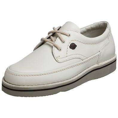 (疯抢)暇步士Hush Puppies Men's Mall Walker Oxford真皮减震休闲鞋运动白$55.32