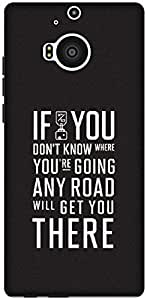The Racoon Grip Where you're going hard plastic printed back case / cover for HTC One M9 Plus