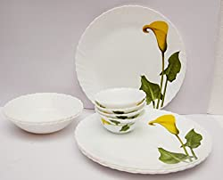 La Opala 19 Pc Dinner set - Amber lily