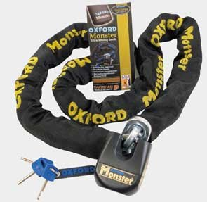 OXFORD SECURITY MONSTER CHAIN & PADLOCK 2.M X 14MM