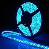 SUPERNIGHT (TM) 16.4ft 5M SMD 5050 Blue Waterproof Led Flexible Flash Strip 300 Leds LED Light Strip 60Leds/M Multifunctional