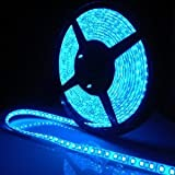 SUPERNIGHT (TM) 16.4ft 5M SMD 5050 Blue Waterproof Led Flexible Flash Strip 300 Leds LED Light Strip 60Leds/M Multifunctional