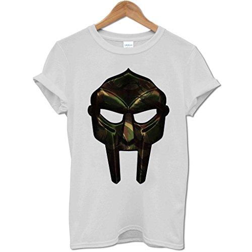 Bang Tidy Clothing Men'S Mf Doom Camo Mask T Shirt Grey M