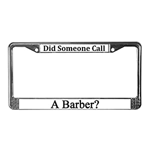 CafePress Barber License Plate Frame License Frame - Standard Multi ...