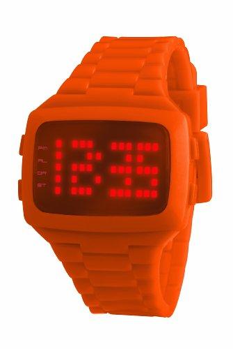 LED Unisex Watch LED-OE-STP With Orange Strap