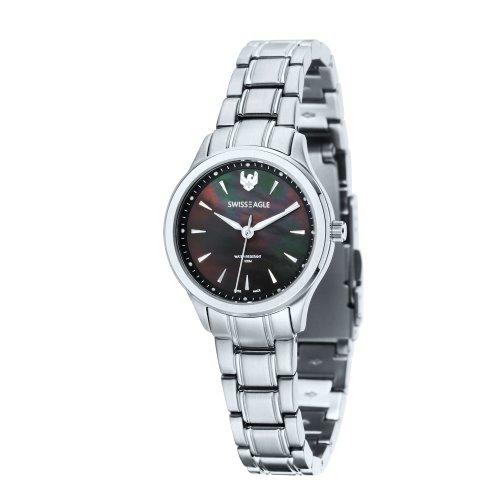 Swiss Eagle SE-6047-11 Ladies Akilina Silver Steel Bracelet Watch