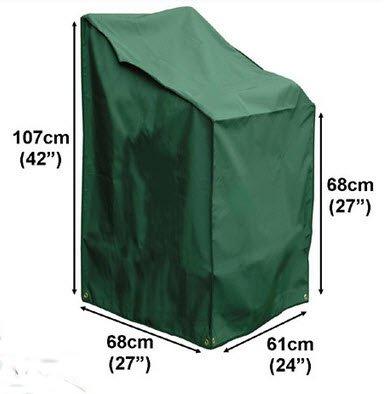 Deluxe Polyester Schutzhülle Abdeckplane für Gartenstuhl, Sessel, Stapel- und Relaxstühle