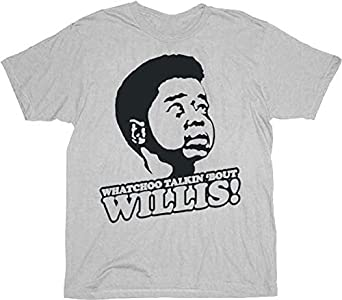 Different Strokes Gary Coleman Arnold Jackson Watchoo Talkin Bout Willis Silver Gray Adult T-shirt Tee Small