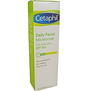Cetaphil Daily Facial Moisturizer with Sunscreen SPF 50+, 1.7 Fluid Ounce