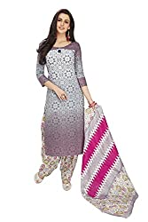 RK Fashion Womens Cotton Un-Stitched Salwar Suit Dupatta Material ( SANDHYA-PAYAL-2019-Grey-Free Size )