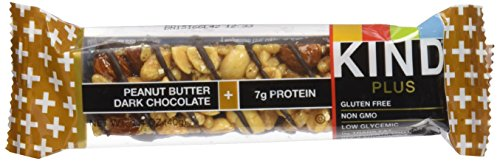 KIND Bars, Peanut Butter Dark Chocolate + Protein, Gluten Free, 1.4 Ounce Bars, 12 Count (Gluten Free Peanut Butter Bars compare prices)