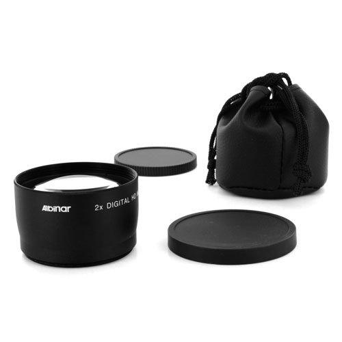 Albinar 2X 58Mm Professional High Speed Hd Mc Telephoto Lens - Black